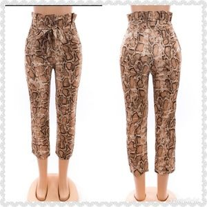 Pants - *JUST  IN* Casual snake print pants